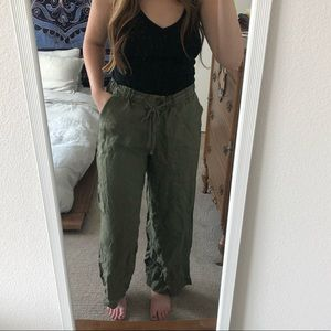 Forever 21 Olive Green Wide-Leg Pants